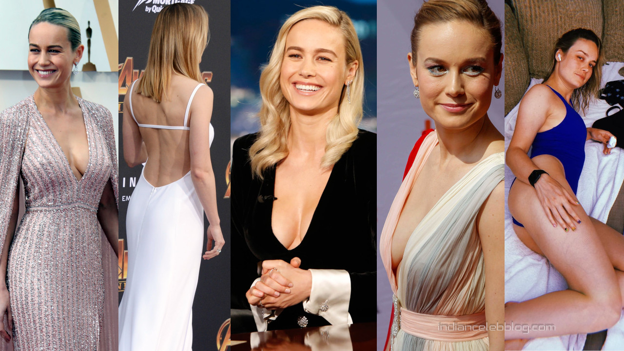 Brie larson hot cleavage hollywood red carpet social media photos