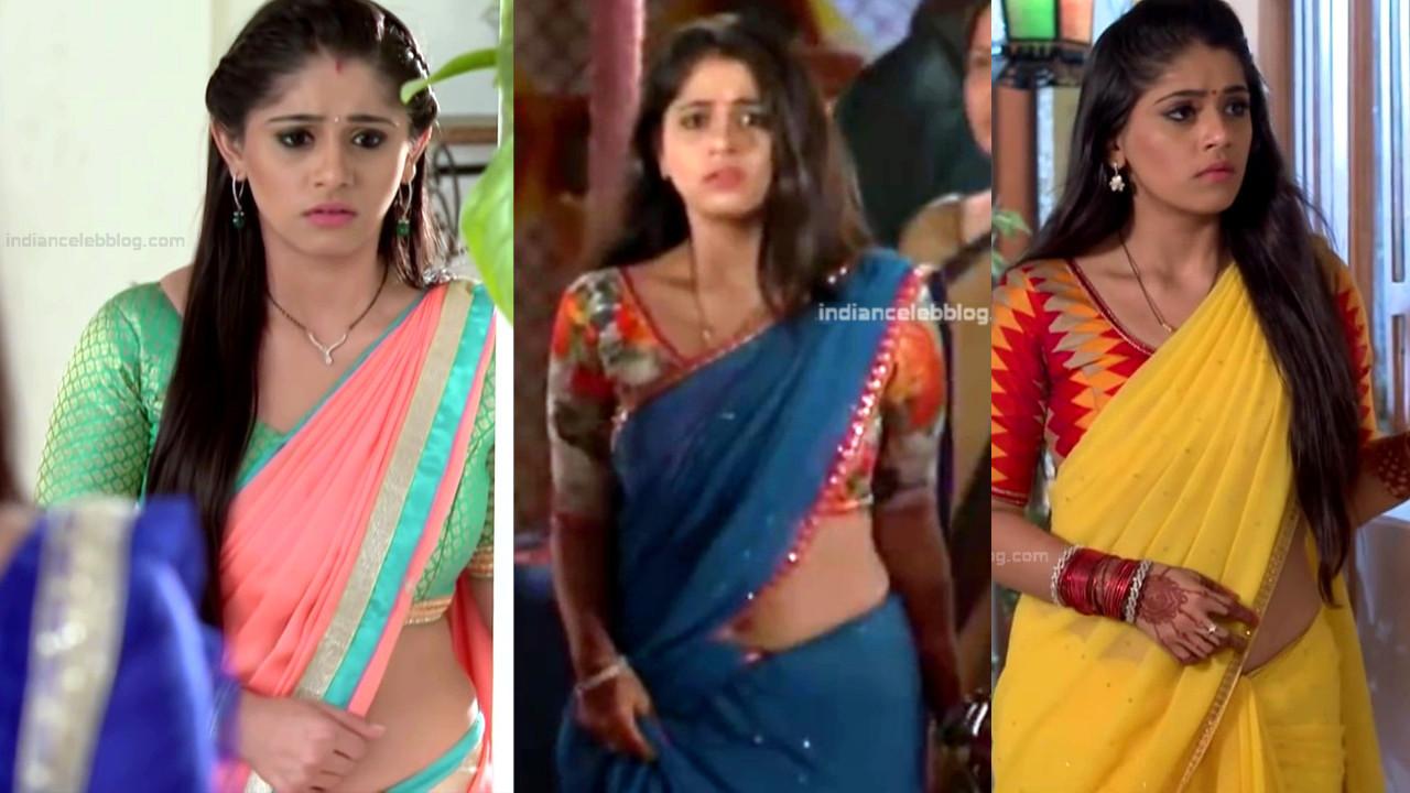 Chandni bhagwanani hindi tv actress hot saree navel - Video