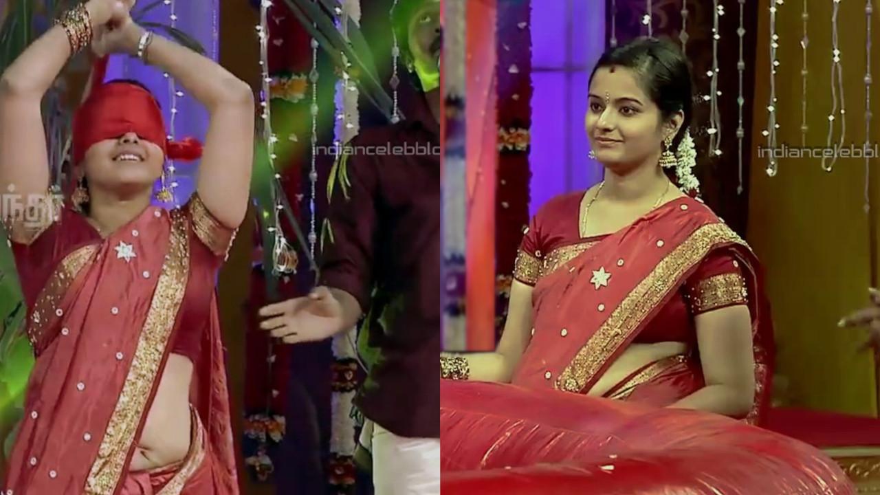 Haripriya vignesh tamil tv hot saree navel game show Video