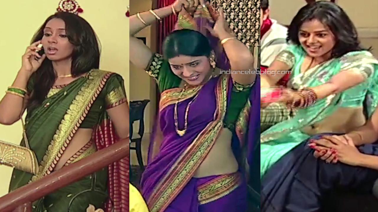 Hindi tv serial actress hot saree midriff show Video compilation