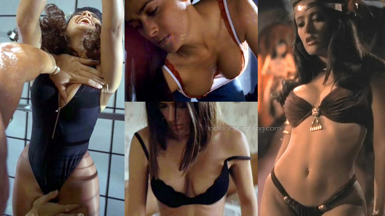 Salma hayek hollywood actress hot sexy underwear photos hd caps