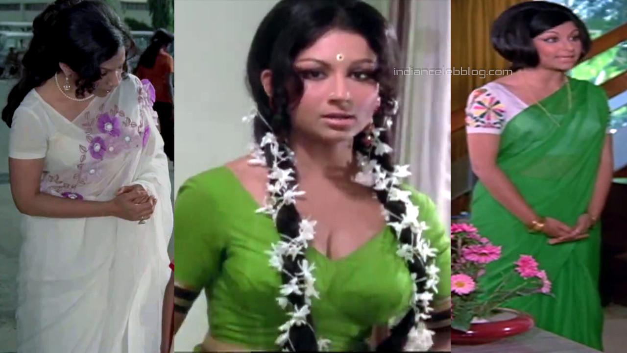 Sharmila tagore bollywood yesteryear actress hot sari pics caps