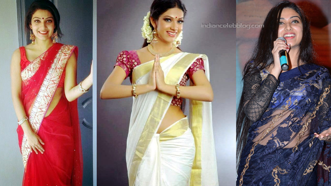 Avanthika mohan mallu actress hot saree social media pics