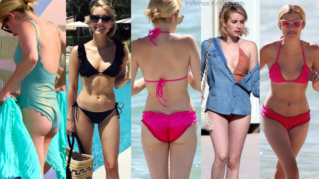 Emma roberts hollywood bikini candids beach vacation photos