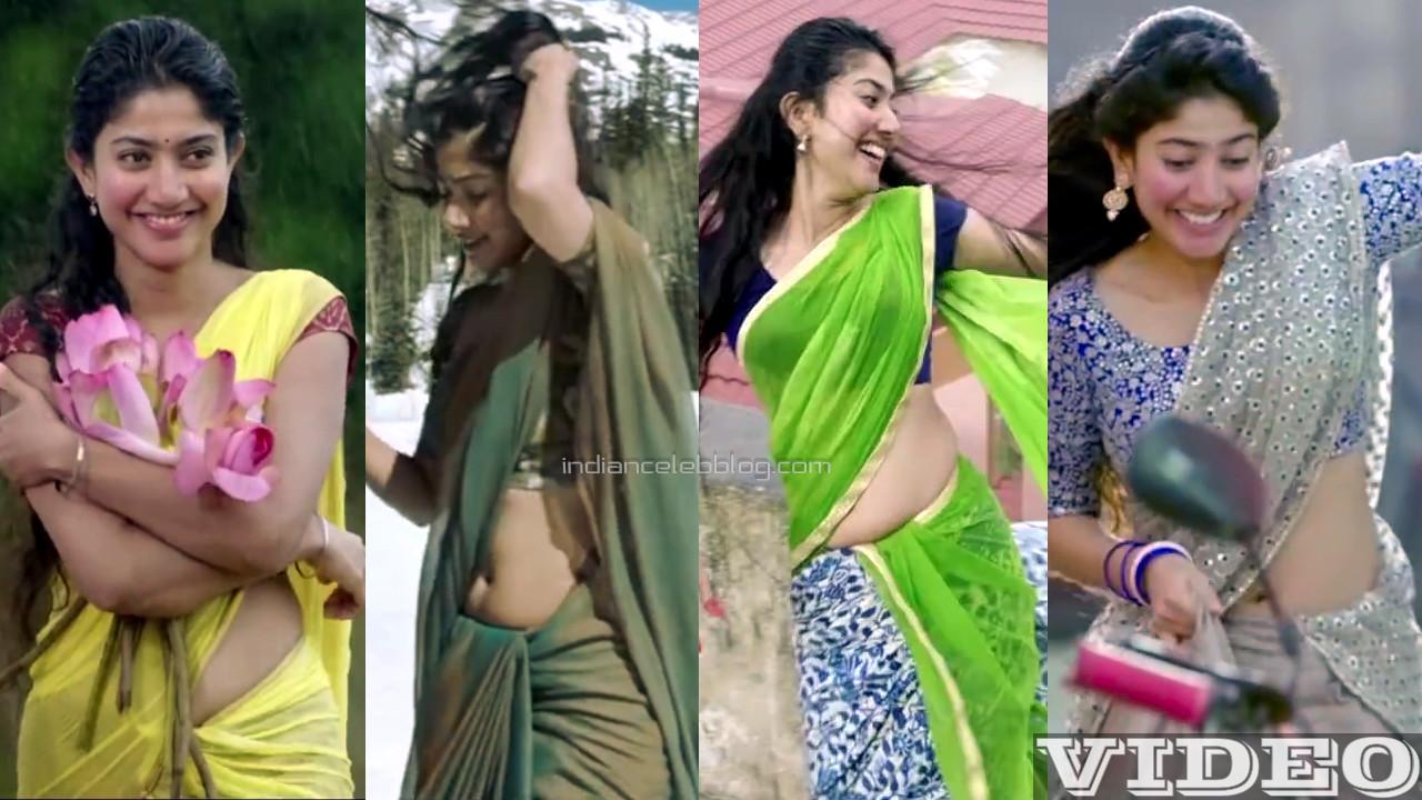 Sai pallavi telugu actress hot saree navel show Video mix