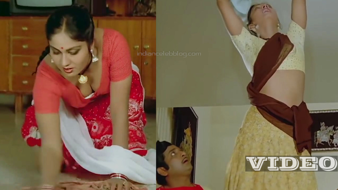 Shyamala gowri telugu side actress hot saree scene video mix