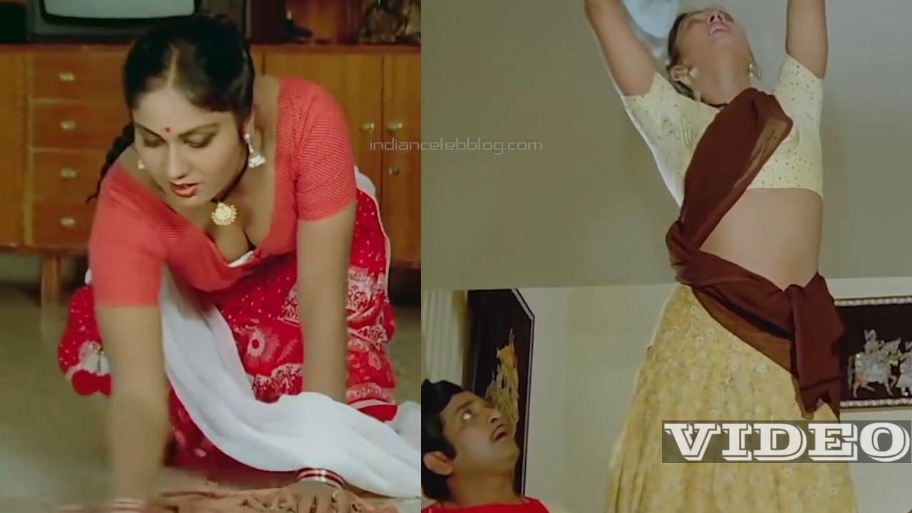Shyamala gowri telugu side actress hot saree scene video mix