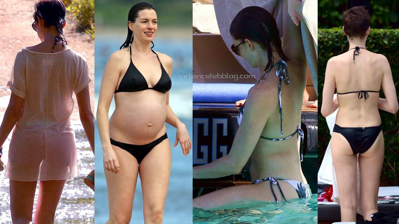 Anne hathaway hollywood bikini candids hot beach paparazzi photos