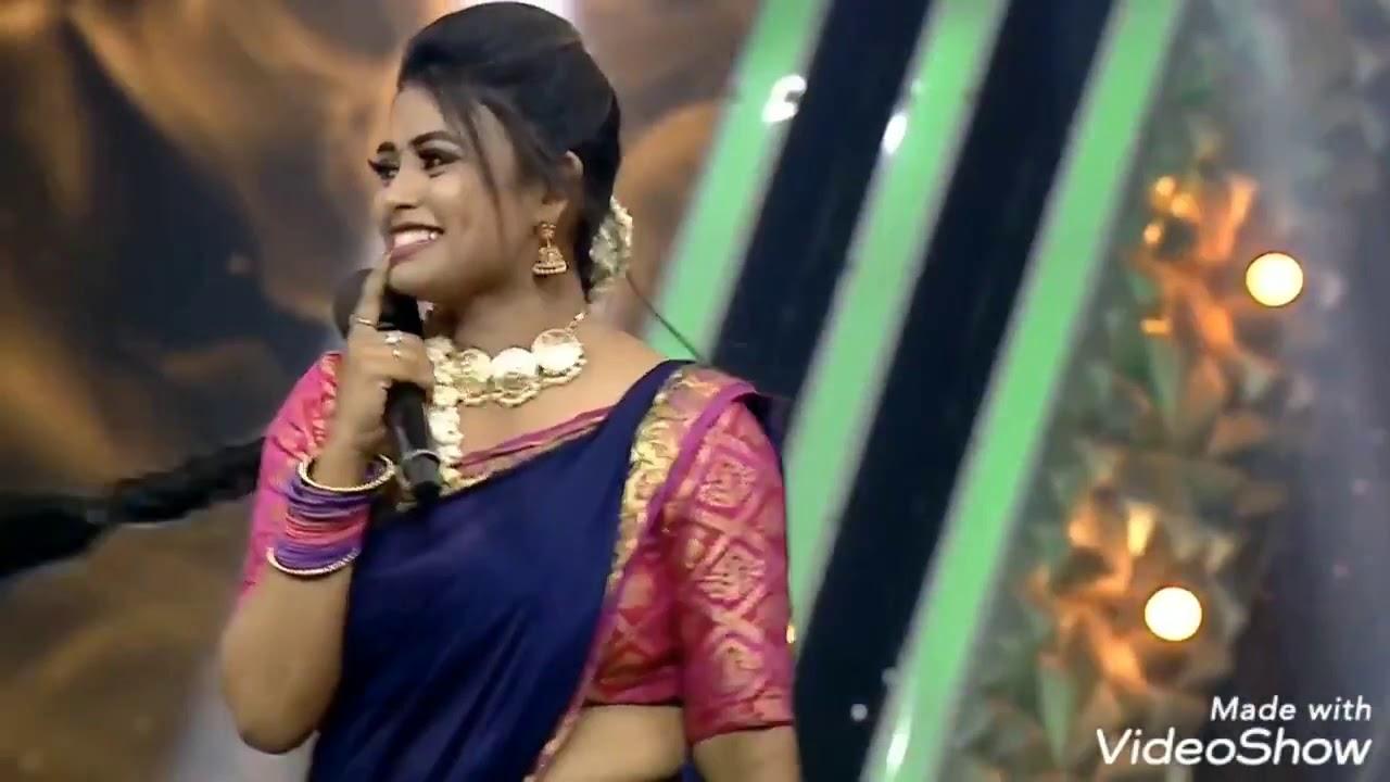Farina azad tamil tv anchor actress hot saree reality show video