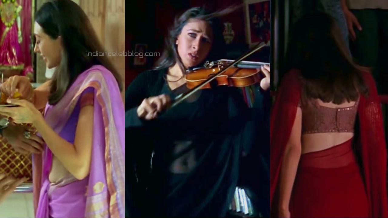 Karishma kapoor bollywood actress transparent saree hd caps pics