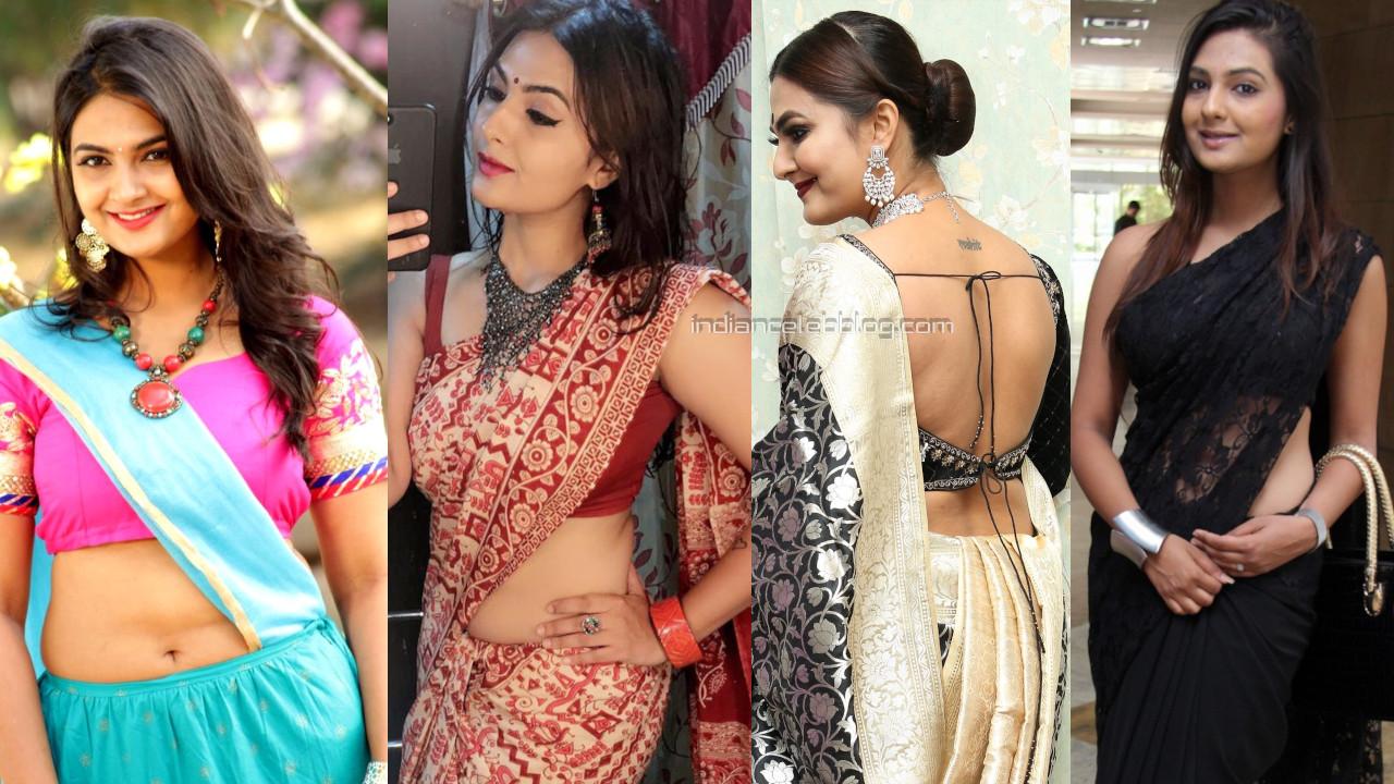 Neha deshpande telugu actress hot saree lehenga choli pics