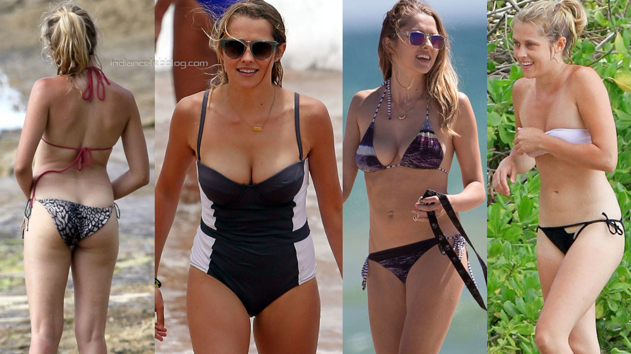 Teresa palmer hollywood hot bikini candid beach paparazzi photos