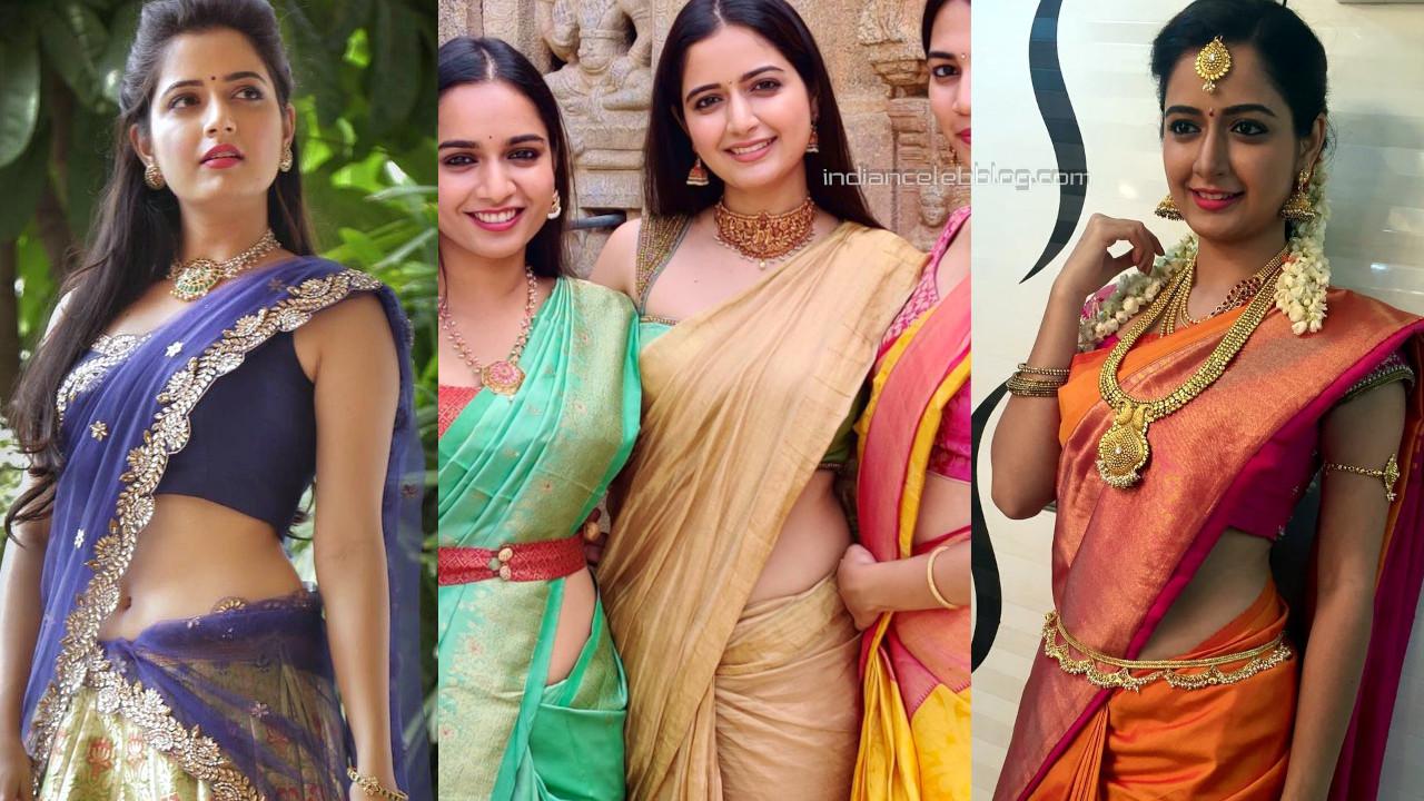 Ashika ranganath kannada actress hot saree social media photos