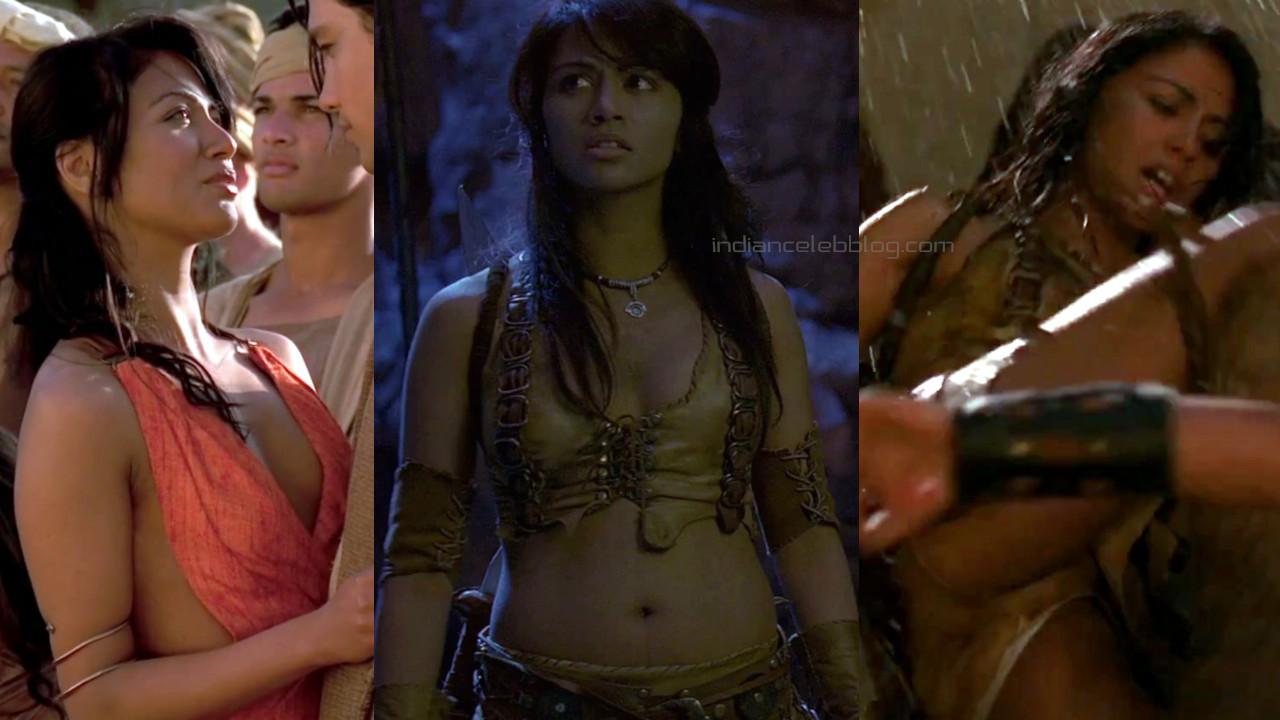 Karen david scorpion king actress sexy midriff photos hd screencaps