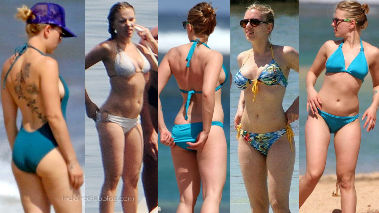 Scarlett johansson hot bikini candids beach paparazzi photos