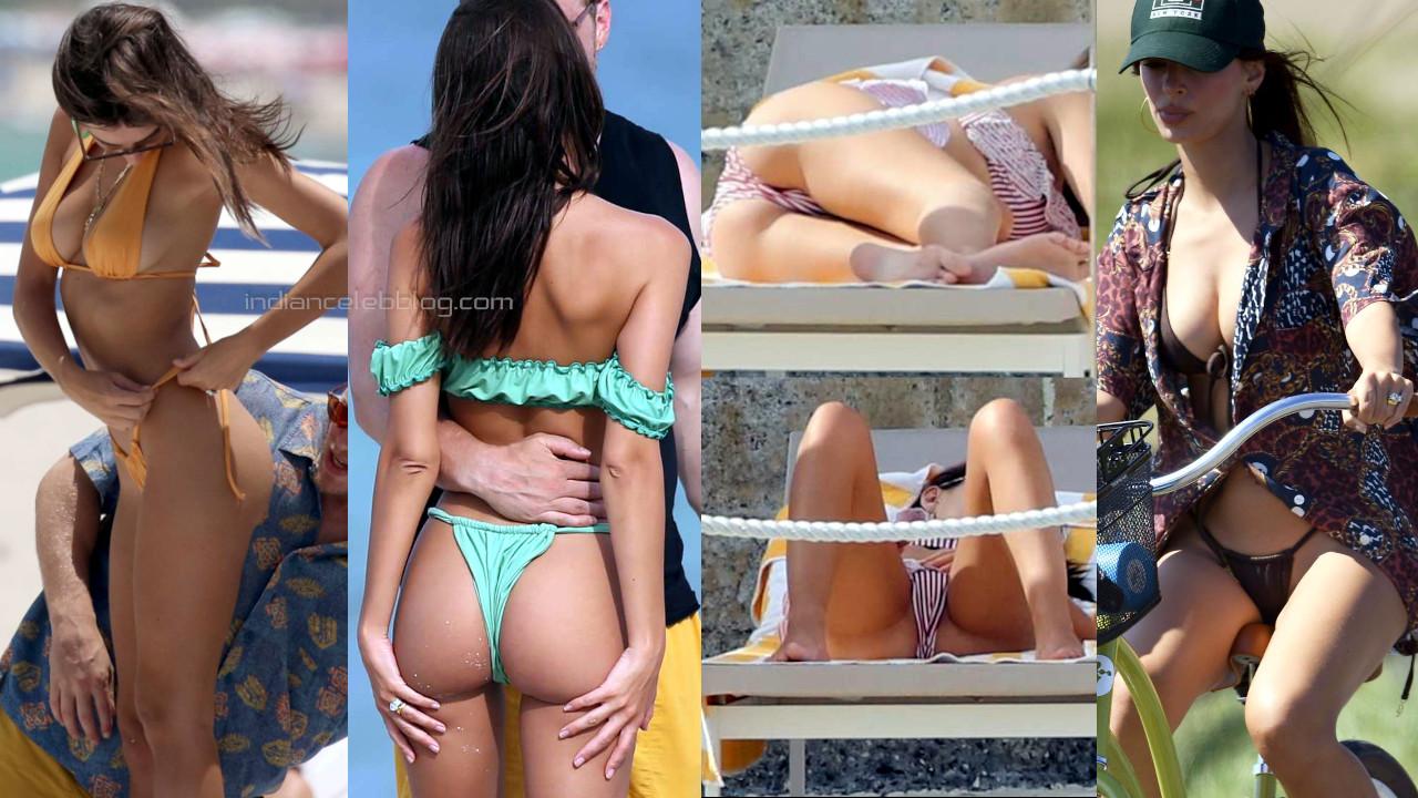 Emily ratajkowski actress model hot bikini beach candid photos