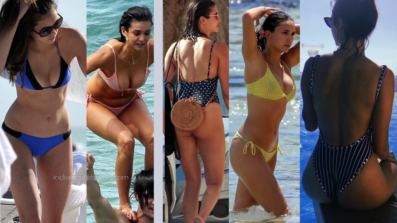 Nina dobrev hollywood celeb hot swimsuit bikini candid photos