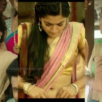 Rashmika mandanna tollywood sexy saree navel show pics hd caps