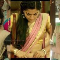 Rashmika mandanna tollywood sexy saree navel show pics hd caps