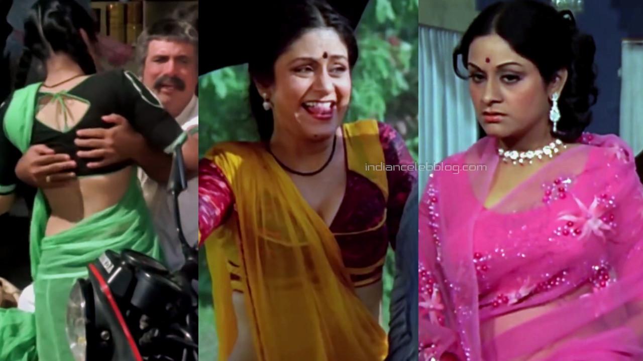 Aruna irani hindi yesteryear actress hot saree pics caps