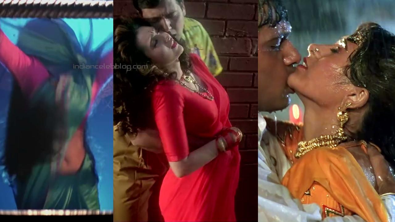 Karishma kapoor khuddar hindi movie hot saree romance stills hd caps