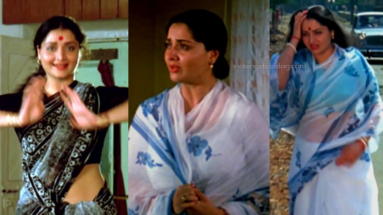 Yogeeta bali bollywood pics caps in transparent blouse saree