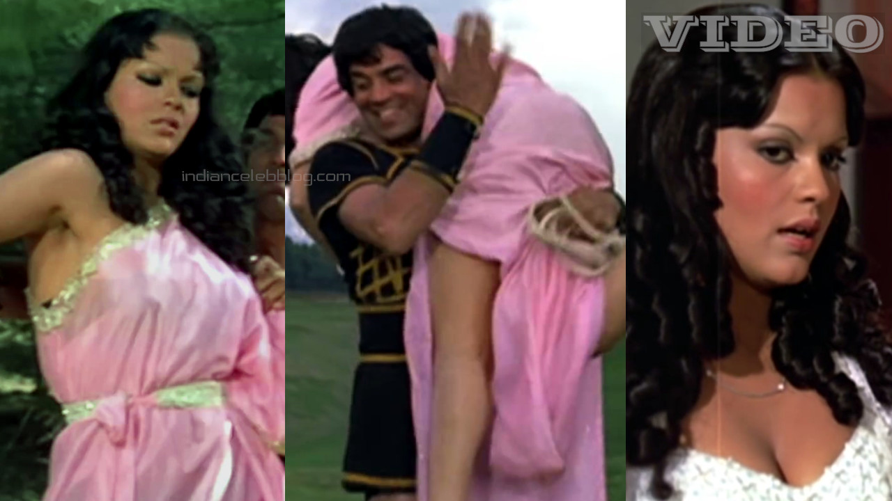 Zeenat aman spanked hard old bollywood movie video clip