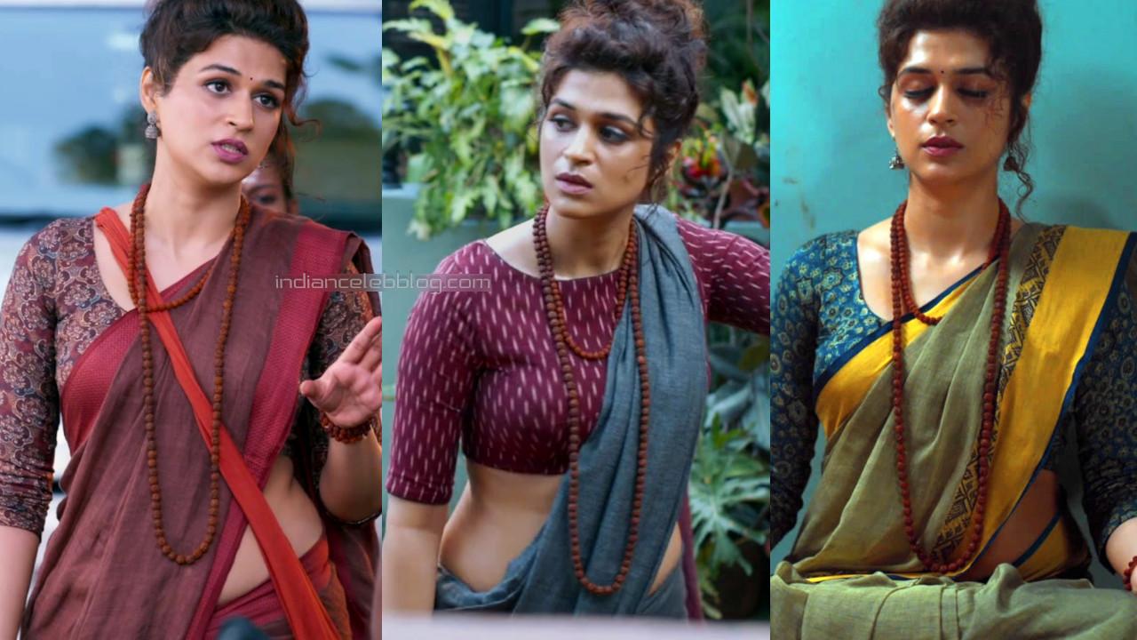 Shraddha das bares midriff in saree photos hd caps ek mini katha