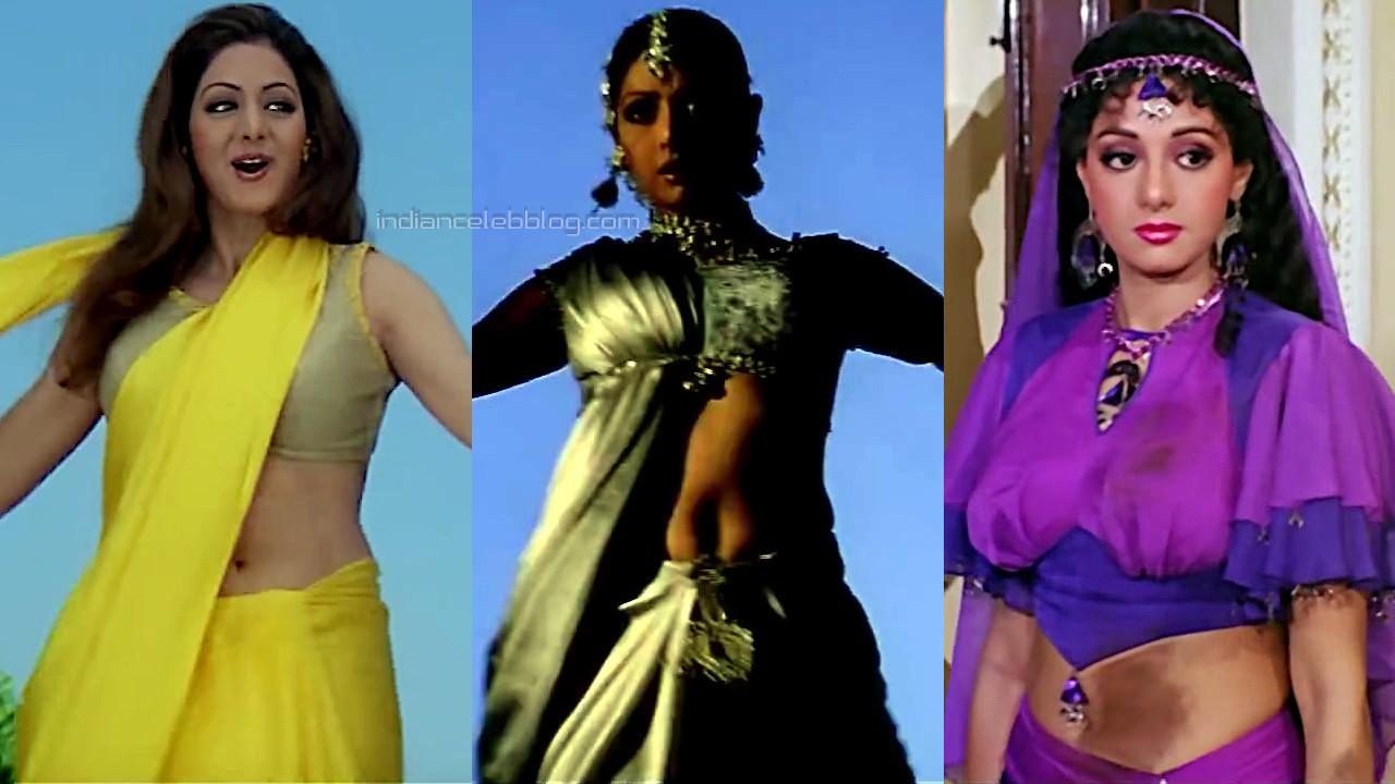Sridevi sexy midriff show Banjaran bollywood movie pics hd caps