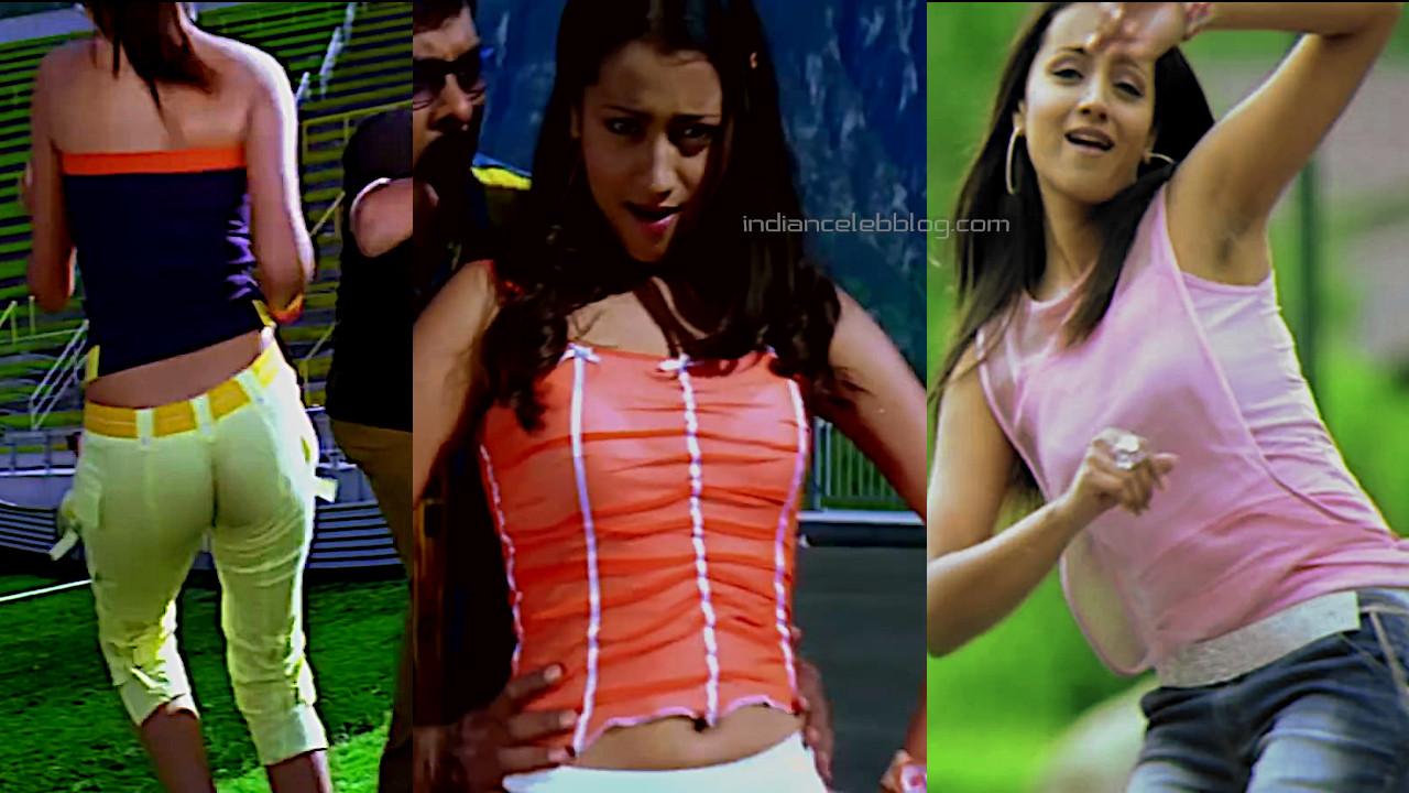 Trisha krishnan sexy armpits stalin telugu movie pics hd caps.