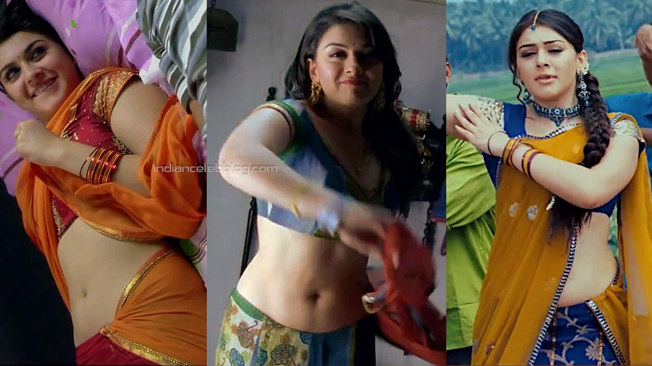 Hansika motwani velayudham sexy half saree navel photos hd caps