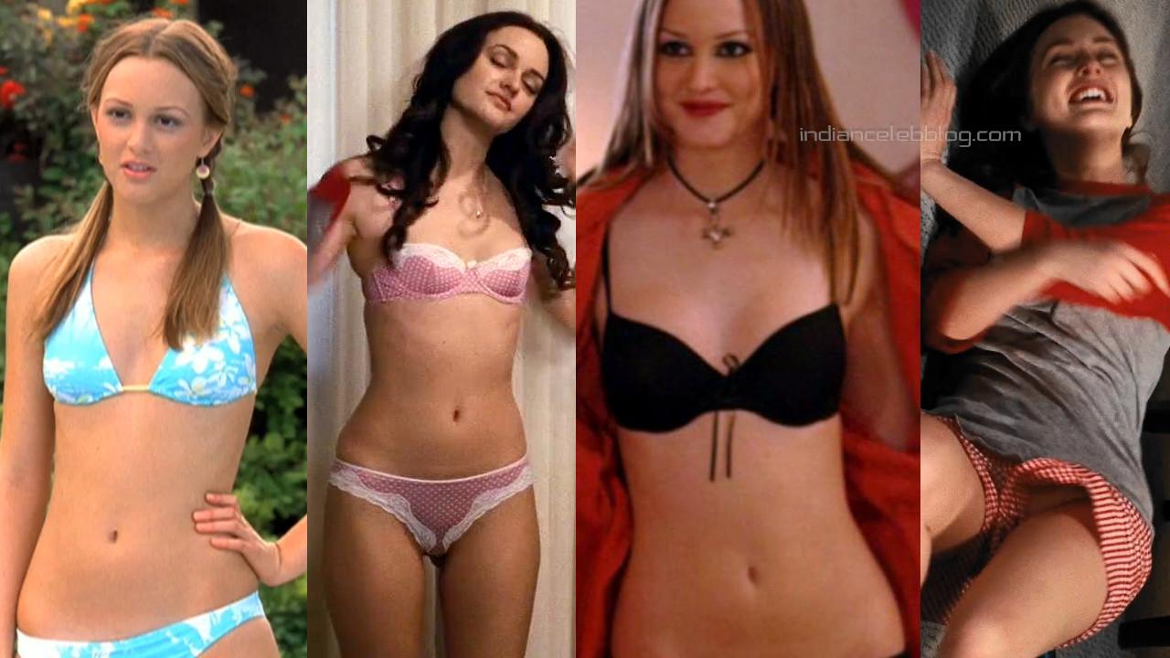 Leighton meester hollywood sexy bikini panty scenes stills hd caps