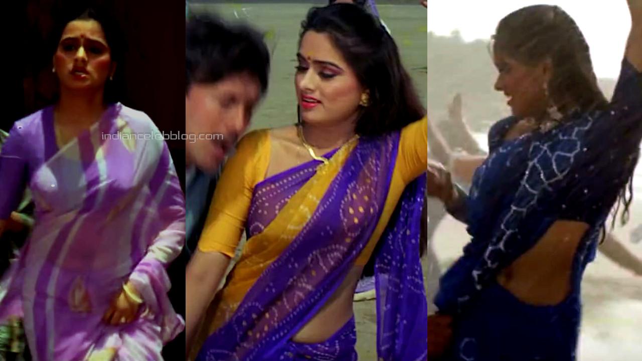 Padmini kolhapure hot saree navel pics caps sadak chhap movie
