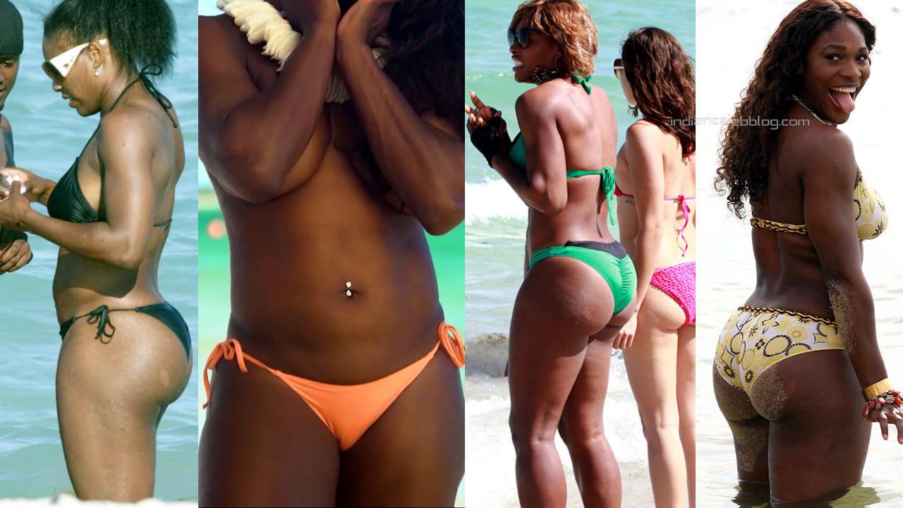 Serena williams sexy bikini butts show beach candid paparazzi photos