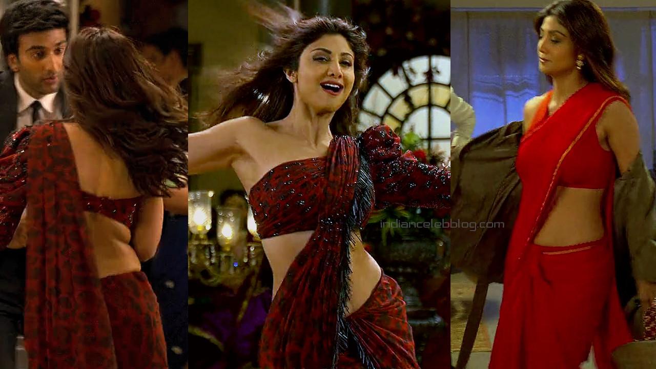 Shilpa shetty hungama 2 movie sexy sleeveless saree stills hd caps