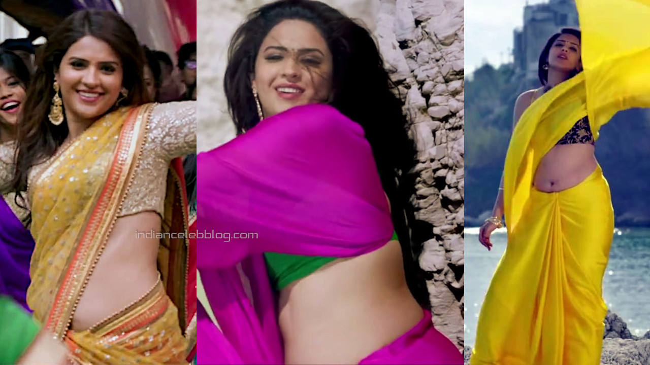 Deeksha seth Juggu dada kannada movie hot saree midriff stills hd caps