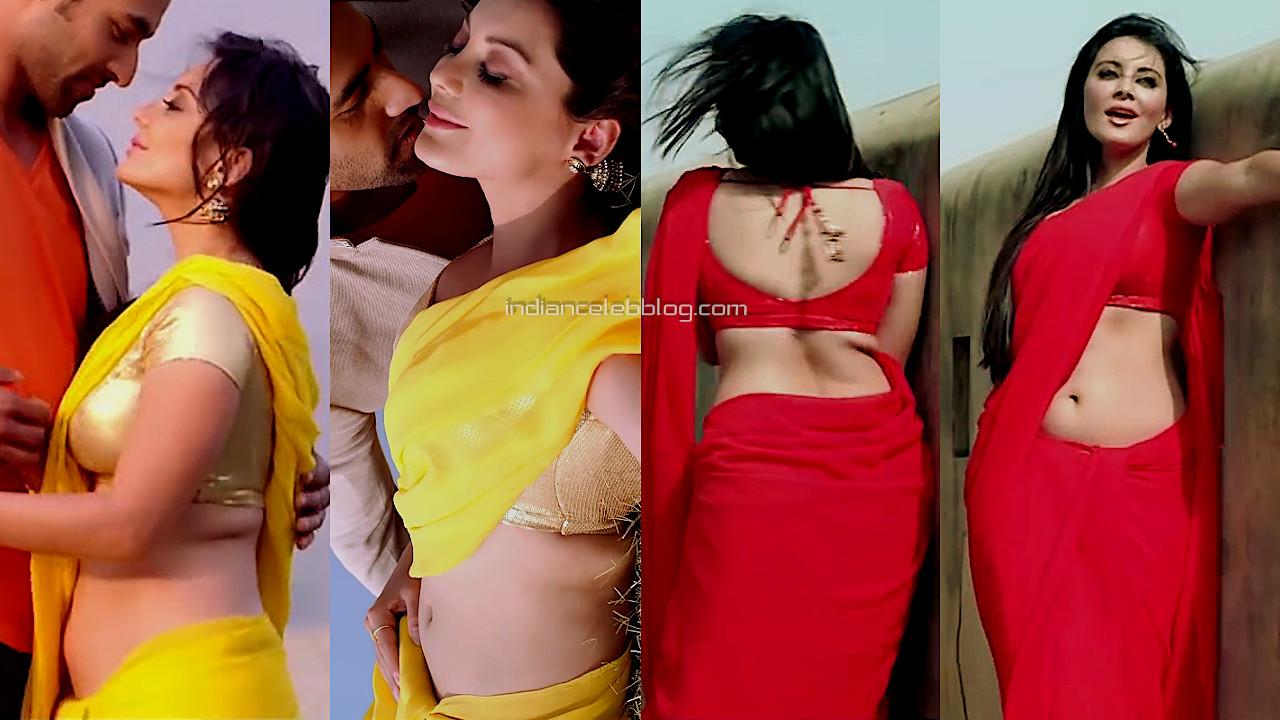 Minissha lamba Heer and hero hot saree navel show pics hd caps