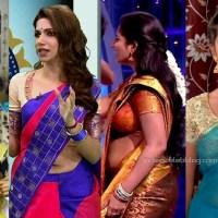 Tamil tv serial actress hot saree navel show stills hd caps mix