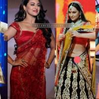Sonakshi sinha bollywood events hot saree navel show stills