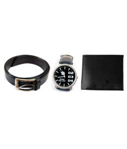 Club British Polo Combo Of Wallet, Belt and Watch