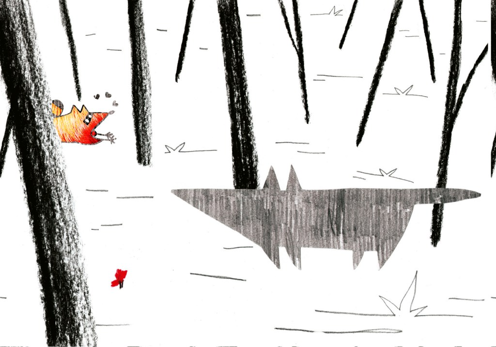 Caperucita y el mapache... y el lobo.