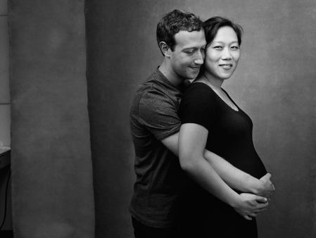 Mark Zuckerberg with his wife Priscilla. (Photo: Facebook)