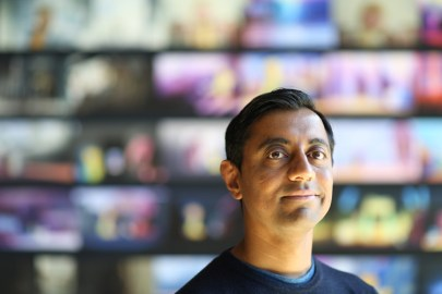"Short film Director Sanjay Patel of ""Sanjay's Super Team"" is photographed on April 8, 2015 at Pixar Animation Studios in Emeryville, Calif. (Photo by Deborah Coleman / Pixar)"