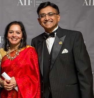 Nalini and Raj Sharma (Photo courtesy: AIF)