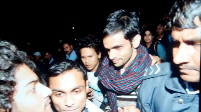 JNU students Umar Khalid and Anirban. (Source: Express photo by Tashi Tobgyal) Courtesy: Indian Express