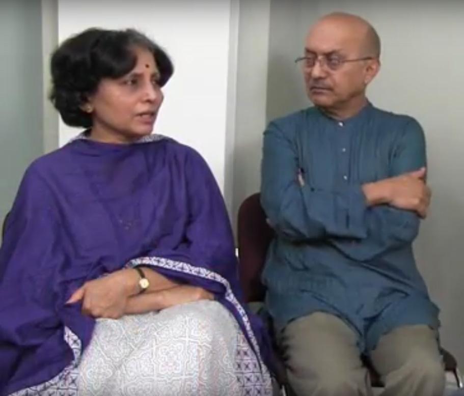 Chinmaya Mission Boston founders: Dr. Shashikala Dwarkanath and Dr. Gopala Dwarkanath.