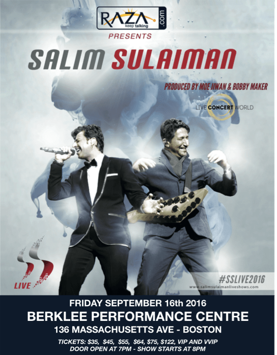 Salim Sulaiman Live In Boston India New England News