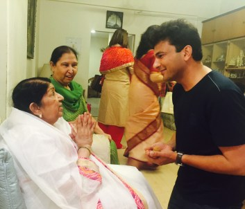 Chef Vikas Khanna and Lata Mangeshkar