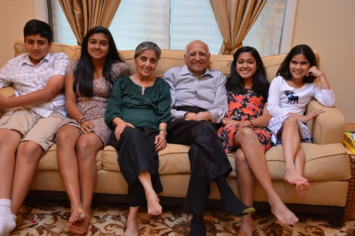 Dangs with their grand children.