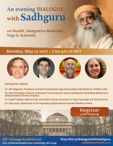 A Evening Dialogue with Sadhguru on Health, Integrative Medicine, Yoga and Ayurveda @ MIT Kresge Auditorium